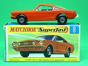 Matchbox-Lesney-No-8e-Ford-Mustang-In-Type-039-G2-039-With-039-New-039-Box