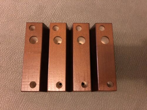 4 x DELAWARE Strong OAK Wooden Furniture Feet For Sofa Chairs Settees Laquered