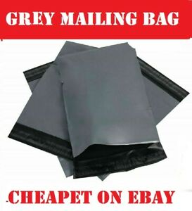 100-STRONG-LARGE-GREY-MAILING-BAGS-6-5-034-x-9-034-POSTAGE-POSTAL-COURIER-SELF-SEAL