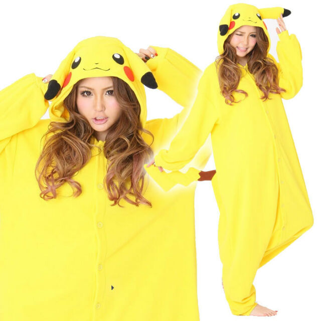 SAZAC Pokemon Pikachu Fleece Costume Adult Unisex Cosplay Halloween Japan F/S