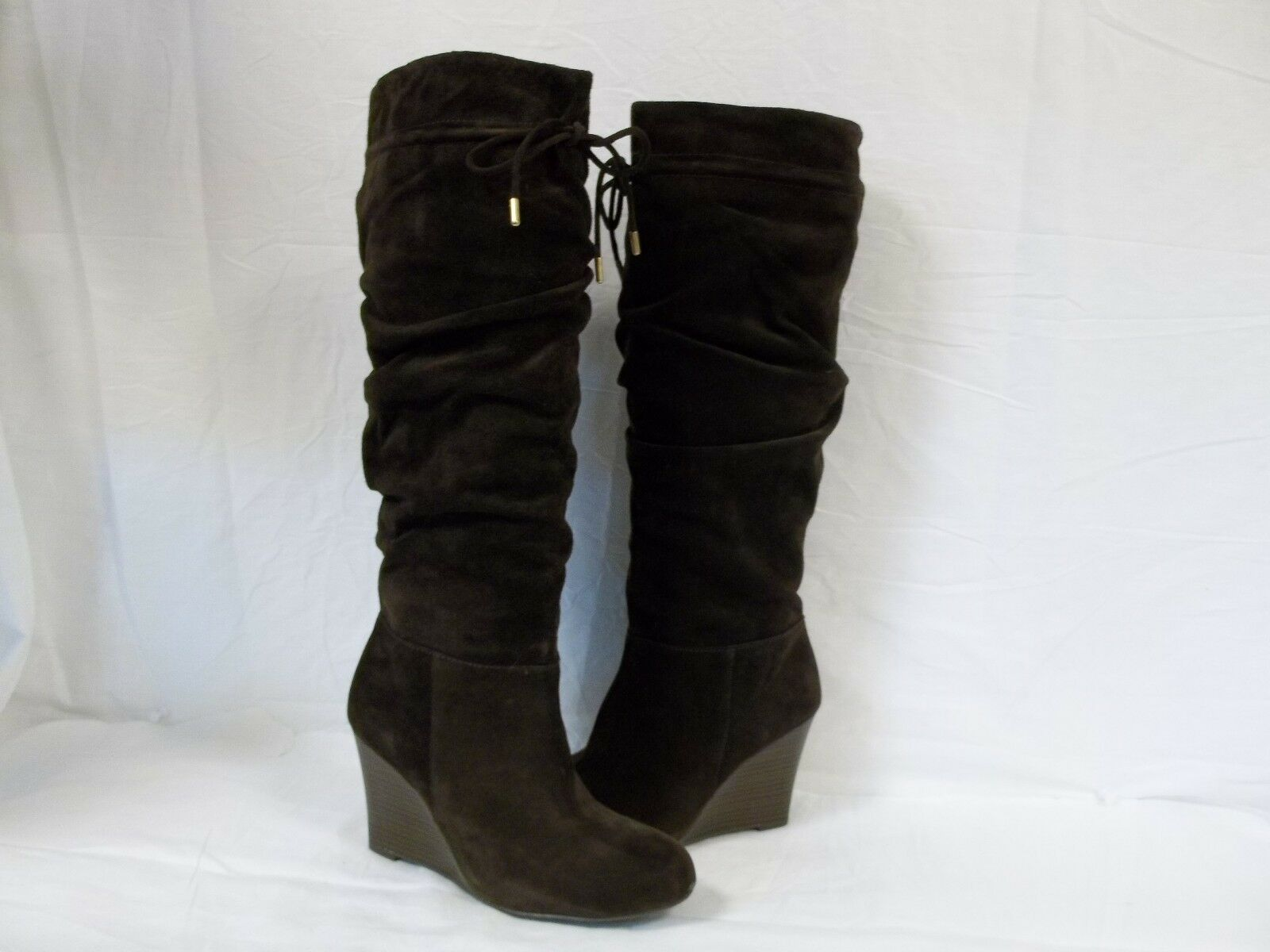 International Concepts Sz 8 M Maia Dark Braun Leder Knee High Stiefel NEU Damenschuhe