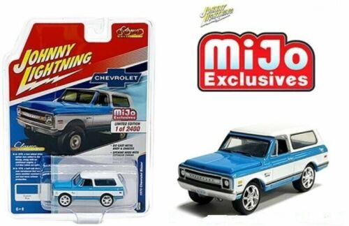 Blue MIJO EXCLUSIVE 1//2400 Johnny Lightning 1970 70 CHEVY BLAZER CUSTOM TRUCK