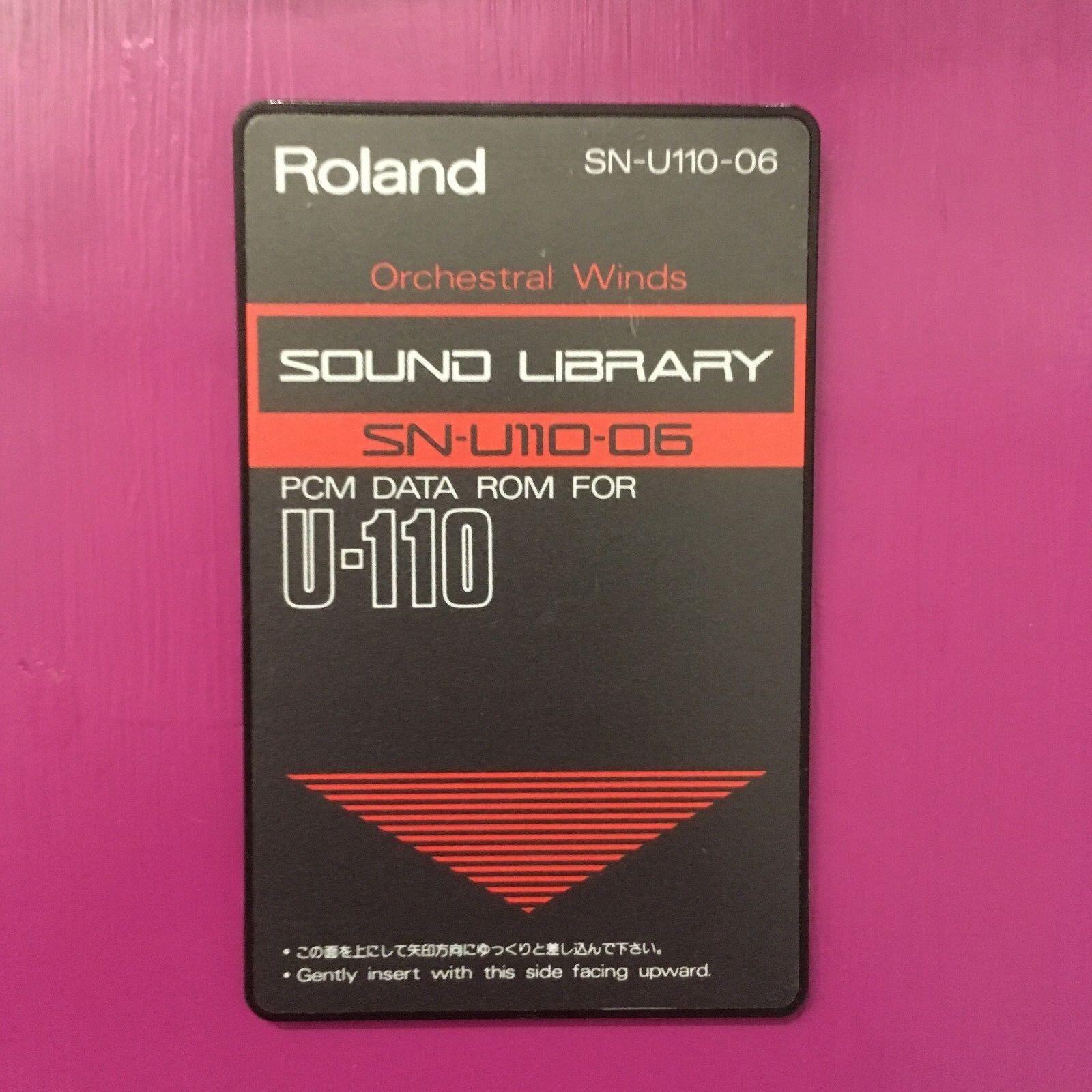 Tarjeta De De De Sonido Roland U-110 SN-U110-06 orquestal vientos 9c3508