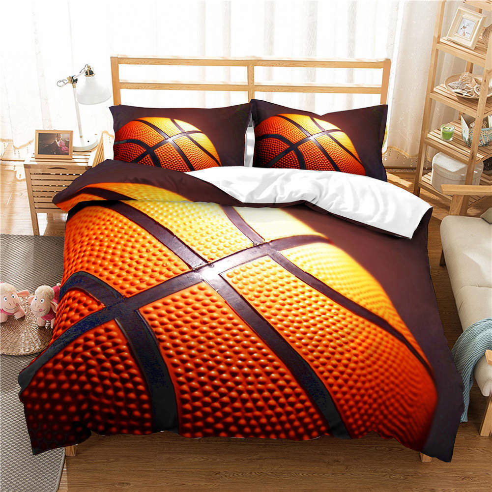 Basketball Big 3D Printing Duvet Quilt Doona Covers Pillow Case Bedding Sets