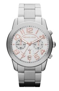 Michael-Kors-Watch-MK5725-Mercer-Chronograph-Silver-with-Rose-Gold-Steel