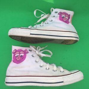 7f0956b5f3d CONVERSE ALL STAR chuck taylor pink pig walking hi top shoes size ...
