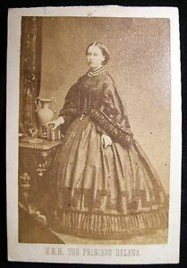 Image Is Loading CIRCA 1865 CARTE DE VISITE CDV PRINCESS HELENA