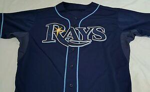 Tampa-Bay-Rays-GAME-USED-JERSEY-Brandon-Gomes-Baseball-MLB-AUTHENTIC-Hologram