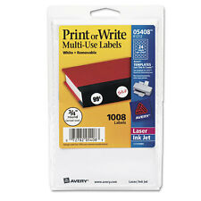"""""""Avery Removable Multi-Use Labels, Printable, White, 3/4 Round, 1008/Pack"""""""
