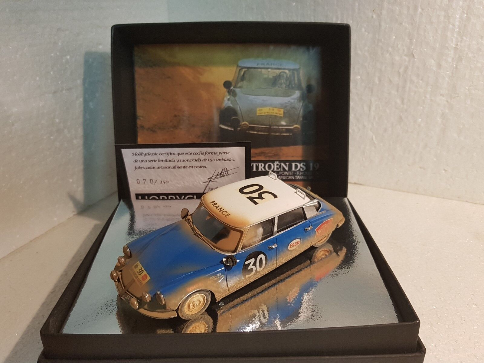 QQ Hobby Classic CL-15 Citroën DS 19 1965 East African Safari Rally  30 Pointet