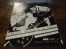 TRUST - PUBLICITE CONCERT PAVILLON PARIS !!!!!!!!!!!!