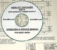 Hp 6257a Dc Power Supply, Operator & Service Manual