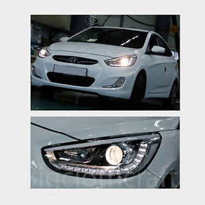 New-LED-Projection-Day-Light-Head-Light-Lamp-Left-OEM-for-Hyundai-ACCENT-12-14