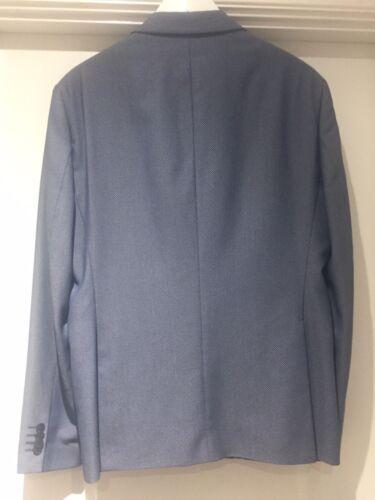 da formale Suit Man 42 Taglia Casual sera Grigio Blazer Eu52 Blu Zara Uk PqEwYdII