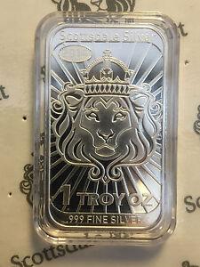 Niue-Leone-2014-Scottsdale-Mint-2-Monete-Bullion-999-Argento-Lingotti-D-039-argento