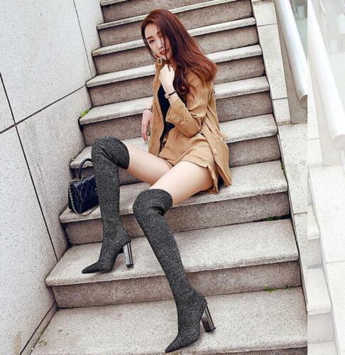Women Ankle Boots Pointed Toe Platform Wedge Ladies Nightclub High Heels Shoes
