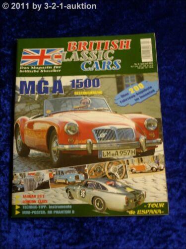 British Classic Cars 4//03 MGA 1500  Jaguar SS 1 London Taxi