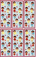 6 Small Sheets Dora The Explorer Boots Dress Up Fruit Scrapbook Stickers