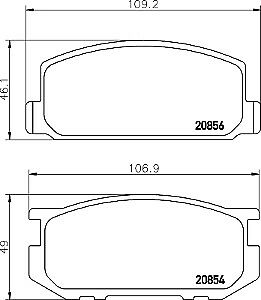 image is loading pad448-genuine-apec-rear-brake-pads-for-daihatsu-