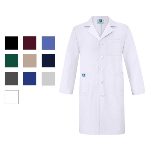 "Adar Universal 39/"" Scrub Lab Coat with Inner Pockets Very Comfortable"