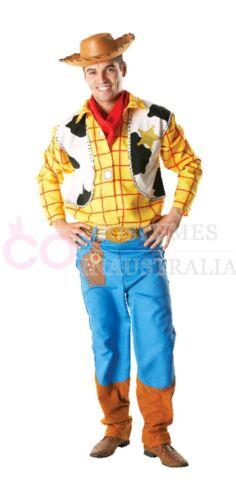 Wild Western Hat Toy Story Woody Costume Disney Adults Mens Fancy Dress Cowboy