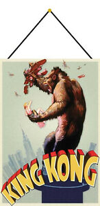 King-Kong-Tin-Sign-Shield-with-Cord-Metal-Tin-Sign-7-7-8x11-13-16in-FA0181-K
