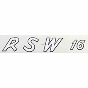 Raleigh RSW 16 decal