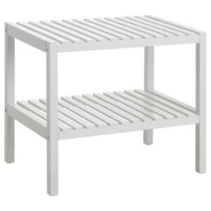 IKEA-Sitzbank-Esszimmer-Badezimmer-Bank-weiss-58x38-cm-Hocker-Sitz