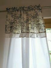 Vorhang * Deko-Schal * Shabby Chic * Vintage 2 Stück mit Volant B/L-135/150