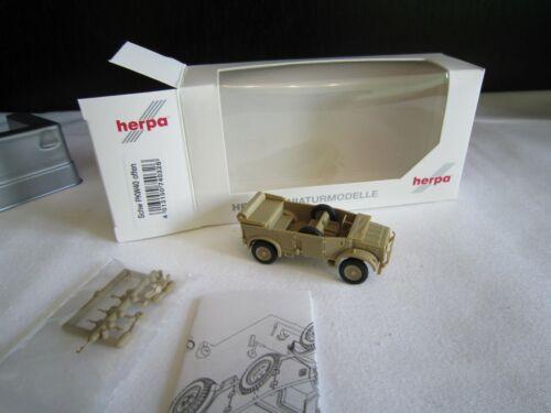 H0 Herpa 740326 militaire véhicule sévère voitures type 40 1 A Beige Nouveau neuf dans sa boîte