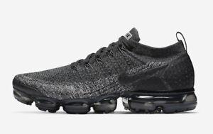 c019cb6766 Nike MEN'S Air Vapormax Flyknit 2 OREO SIZE 10 BRAND NEW BLACK GREY ...
