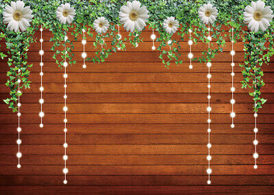 5x5FT Vinyl Photography Backdrop,Ivory,Blossoming Flowers Romantic Background for Graduation Prom Dance Decor Photo Booth Studio Prop Banner