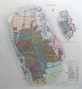 Details about LIVERPOOL, ENGLAND, UK, Street Plan, Dawson Original antique  map 1832