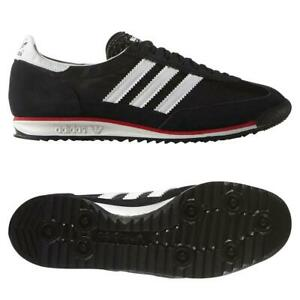 ADIDAS-ORIGINALS-SL-72-Baskets-Retro-Rare-Deadstock-Noir-Baskets-Chaussures-Kicks
