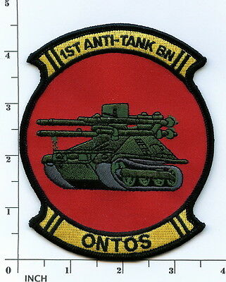USMC 1st Anti-Tank Battalion ONTOS larger PATCH Marines ! Vietnam 1st AT Bn big!