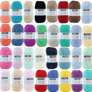 Patons-Fairytale-Fab-Baby-Smiles-4-Ply-50g-Yarn-Knitting-Crochet