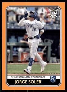 2020 Big League Base Orange #32 Jorge Soler - Kansas City Royals