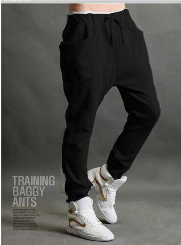Mens Joggers Military Jogging Trousers Harem Hip Hop Slim Long Pants Bottoms UK