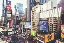 Times Square New York City Broadway, Mamma Mia, Spider-Man, Lion King - Postcard