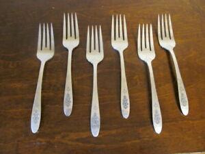 Oneida Paradiesvogel Set 6 Salat Gabeln Gemeinschaft Silverplate Bestecke F