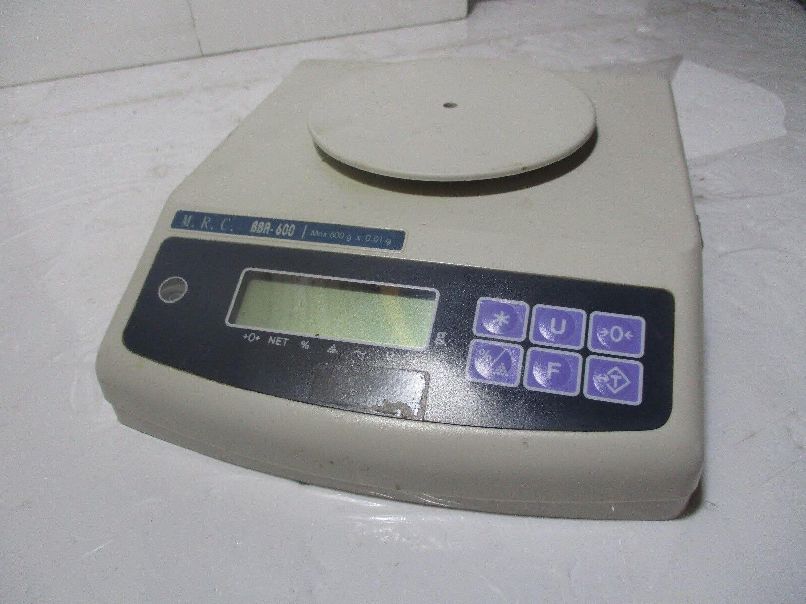 M.R.C. BBA-600 Digital Scale 600g x 0.01g 9VAC