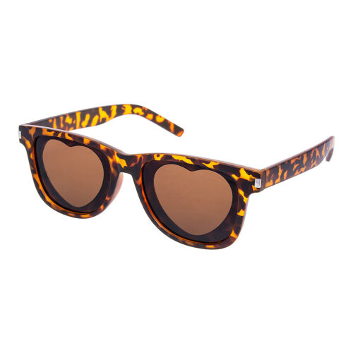 Retro Vintage Summer Fashion Blue Banana Frost Leopard Print Brown Sunglasses