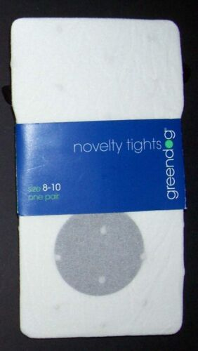 NWT Greendog White dot pattern girls tights Macys 4 6 8 10 12 14