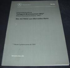 Technische Information Mercedes Actros Telligent Bremssystem Elektro Bremse 1996