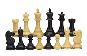 ROOGU Old English Series 3.5'' Staunton Chess Pieces Set Wood 4x Queen Handmade