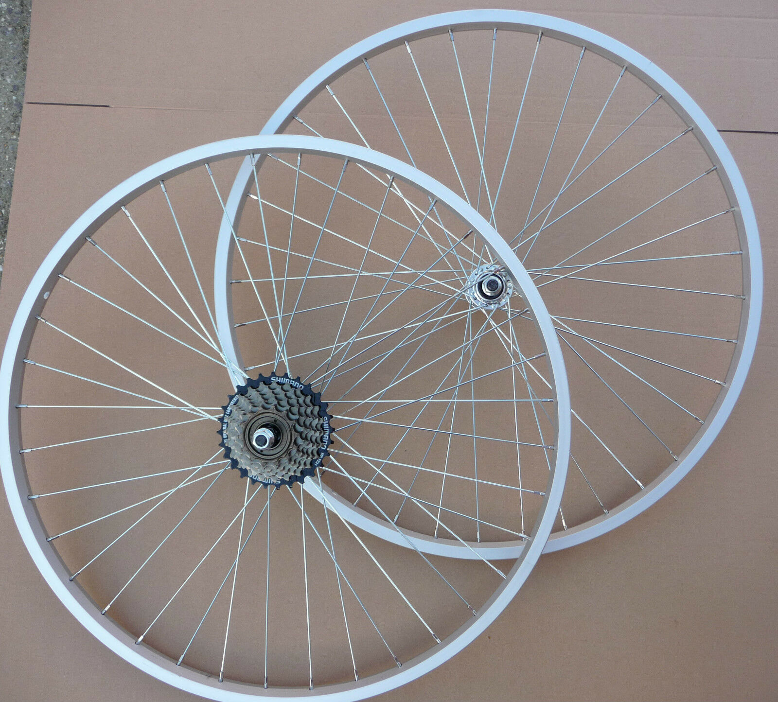 WHEELS 26  Bicycle Mountain Bike Cycle Front & or Rear add Shimano 6   7 Speed