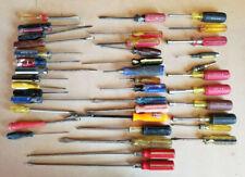 Lot Of 40 Mixed Assorted Screwdrivers Socket Screwdrivers Hand Tools