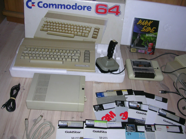 Commodore 64 anlæg, andet, God, Commodore 64 med 1541-II…