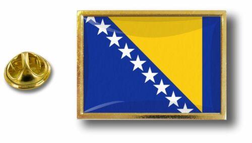 anstecknadel pin abzeichen metall mit zange papillon flagge bosnien bosnisch
