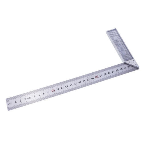 Square Stainless Steel 90 Degree Angle Ruler Measurement Tool Woodworking L